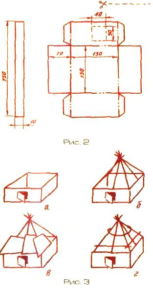 Заготовки для модели дома и