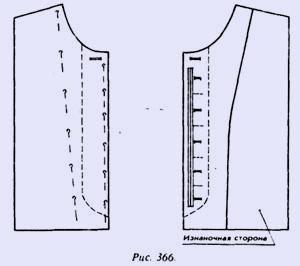 Женское платье с супатной застежкой